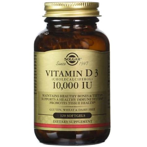 vitamin d supplement solgar vitamin d 10 000 iu 120 softgels evitamins