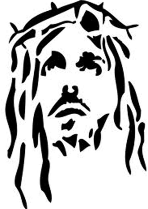 black tribal jesus head tattoo design
