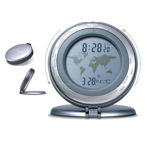 Alarm X One world time travel alarm clock 3 1 8 quot x3 4 quot china