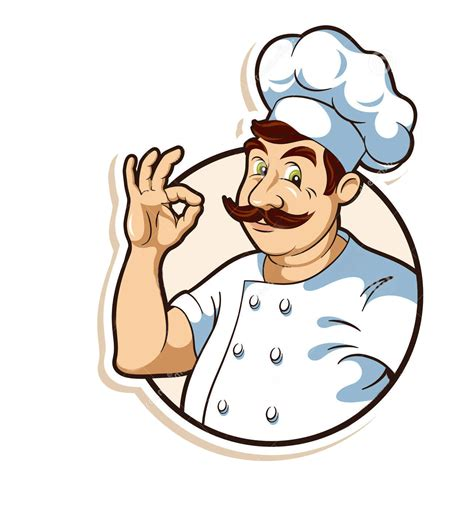 hd png psd   chef cook vector illustration
