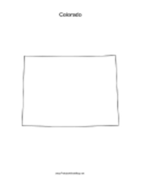 blank map of colorado colorado blank map