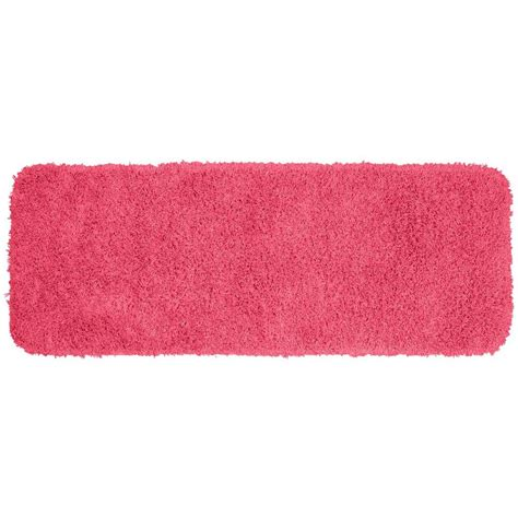 pink bathroom rug garland rug jazz pink 22 in x 60 in washable bathroom accent rug ben 2260 11 the home depot