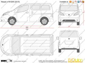 drawing with measurements online the blueprints com vector drawing nissan e nv200