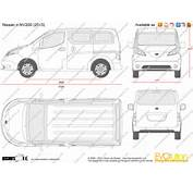 The Blueprintscom  Vector Drawing Nissan E NV200