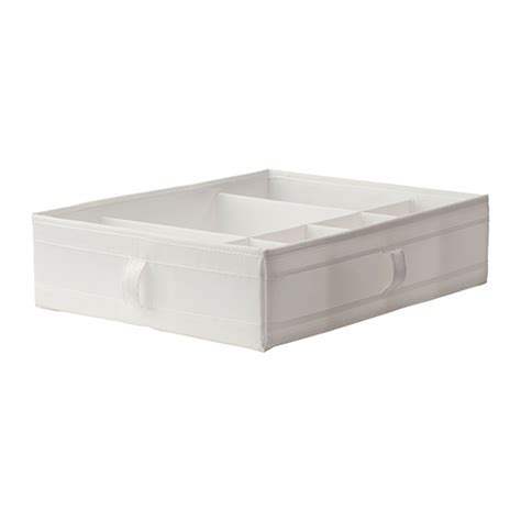 ikea skubb skubb box with compartments white ikea