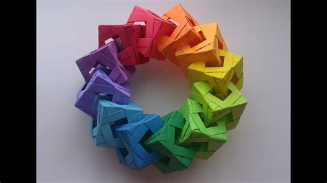 origami cube ring tutorial youtube