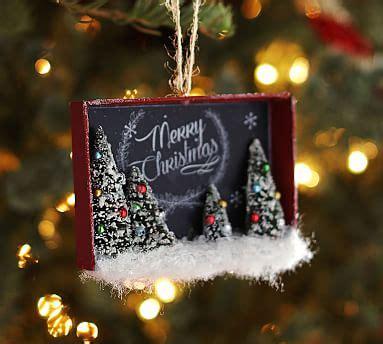 merry christmas chaulk board pottery barn chalkboard scenic shadowbox ornament pottery barn
