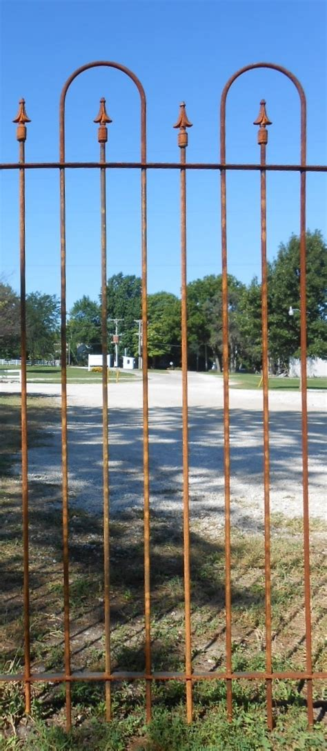 Iron Fence Sections by 5 Ft Wrought Iron Fence Two Hoop Section