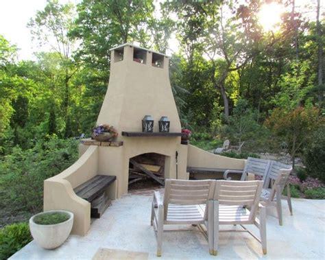 Outdoor Corner by Corner Outdoor Fireplace Neiltortorella