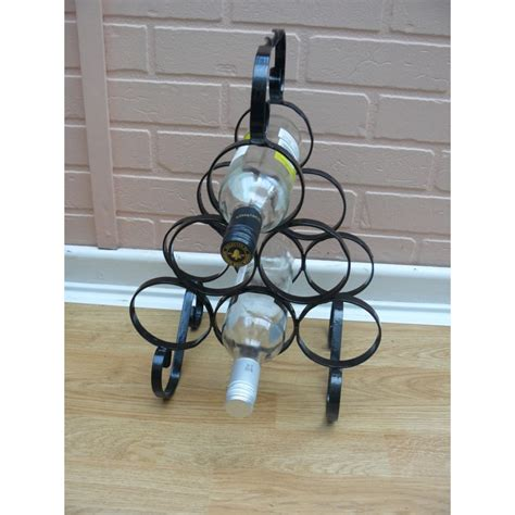 wine rack wrought iron wine rack to hold six bottles wrought iron handmade