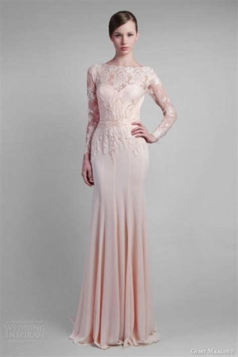 wear a blush wedding dress 25 stunning ideas