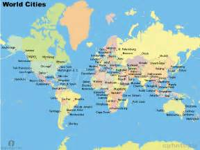 world map with major cities and countries images