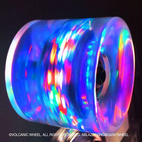 Longboard Light Up Wheels volcanic ablaze longboard lightup skateboard wheels volcanic wheel