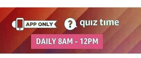 answers added amazon quiz answer  win rs pay