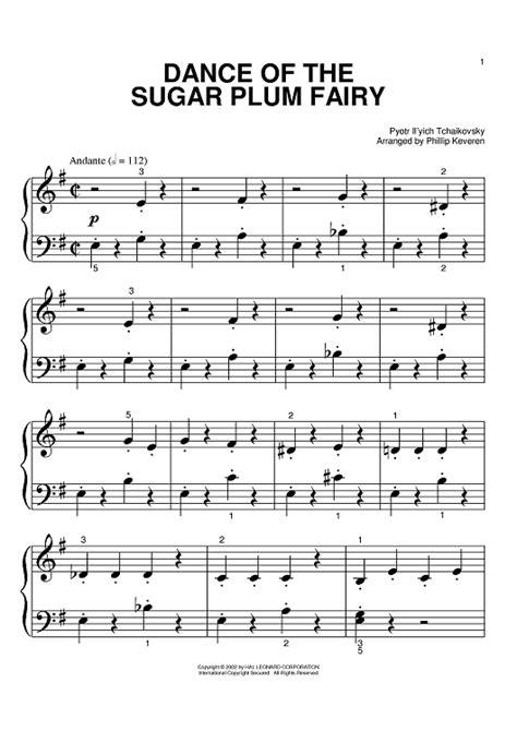 dance of the sugar plum fairies the nutcracker dance of the sugar plum fairy sheet music