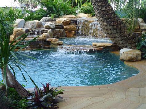pool waterfalls ideas pools with waterfalls waterfalls into pool jacuzzi