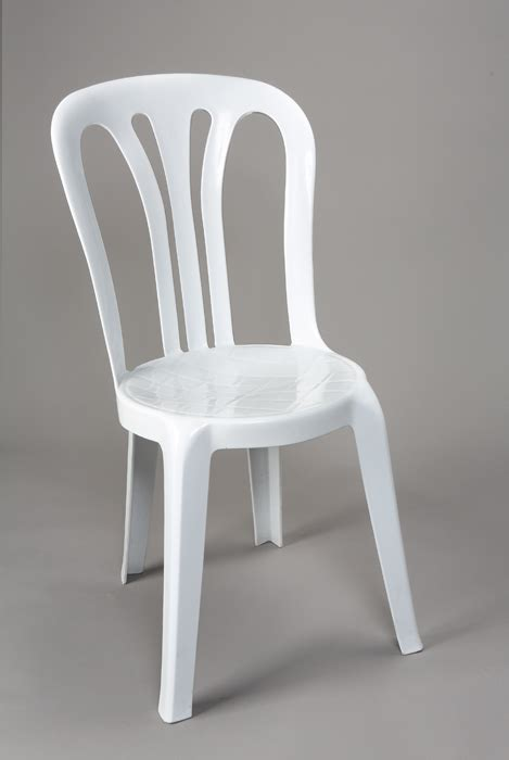 White Bistro Chair Event Furniture The Banqueting Hire Service