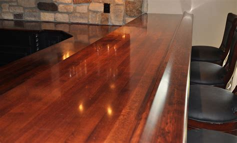 Maple Bar Top commercial or residential wood bar top photos for bar