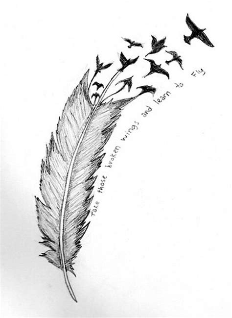 feather with birds flying out tattoo feather birds flying to heaven tattoos