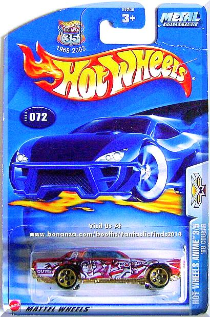 hot wheels anime hot wheels 68 cougar hot wheels anime 3 5 collector