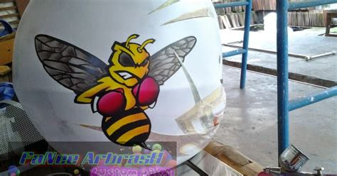 tutorial gambar lebah cat airbrush tutorial airbrush karakter kartun