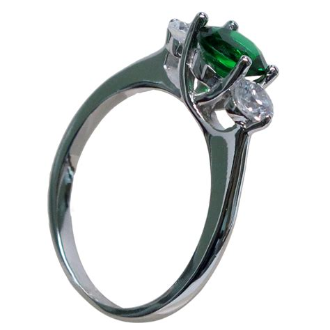 1 5 ct emerald 925 sterling silver ring size 5 10