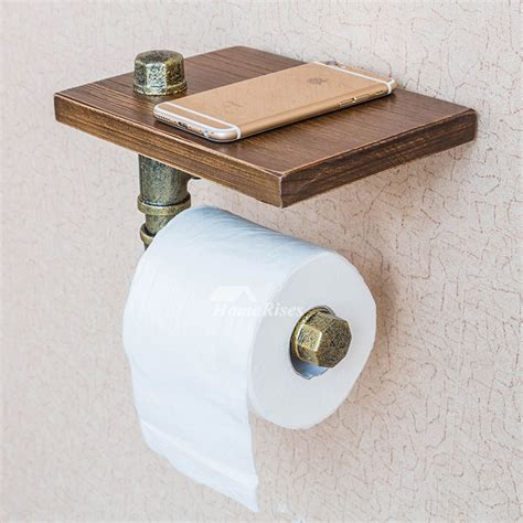 toilet paper holder cabinet unusual vintage wooden rustic toilet paper holder with shelf