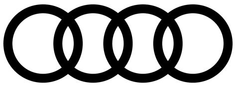 audi logo black and white transparent black background imgkid com the image