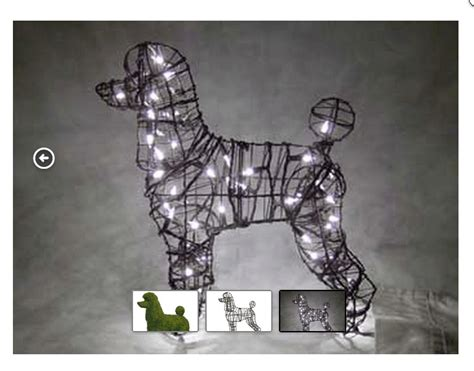 Topiary Spiral - lighted poodle topiary 17 x 18 x 9