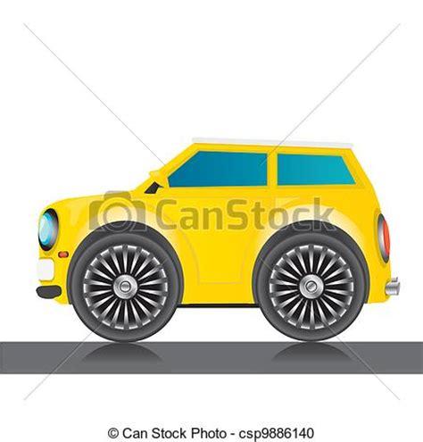 lustre voiture clipart vecteur de vecteur jaune lustr 233 voiture ic 244 ne jouet voiture csp9886140