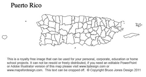 Coloring Page Map Of Puerto Rico | south dakota to wyoming us county maps