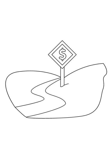 Coloring Page Road by Road Sign Coloring Pages Coloring Home