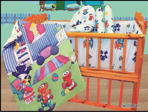 Sesame Crib Set by Sesame 3 Pc Crib Set Time For Play Baby
