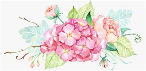decorative flower small fresh painted watercolor flower decorative small