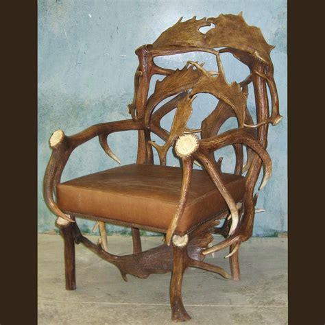 Deer Horn Furniture by Elk Fallow Deer Antler Chair