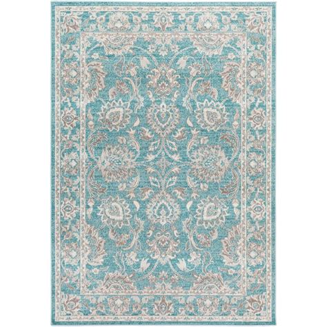 Teal Area Rug 5 X 8 Artistic Weavers Sandoc Teal 2 Ft 8 In X 5 Ft Indoor Area Rug S00151021770 The Home Depot
