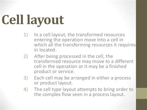 work cell layout exles cellular layout manufacturing