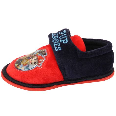 toddler velcro slippers boys toddlers velcro paw patrol pup heroes slippers