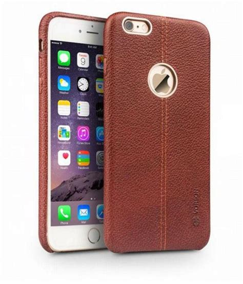 apple iphone 6 cover by ikazen brown plain back covers at low prices snapdeal india