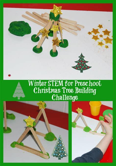 tree activities winter stem activity for preschool evergreen tree