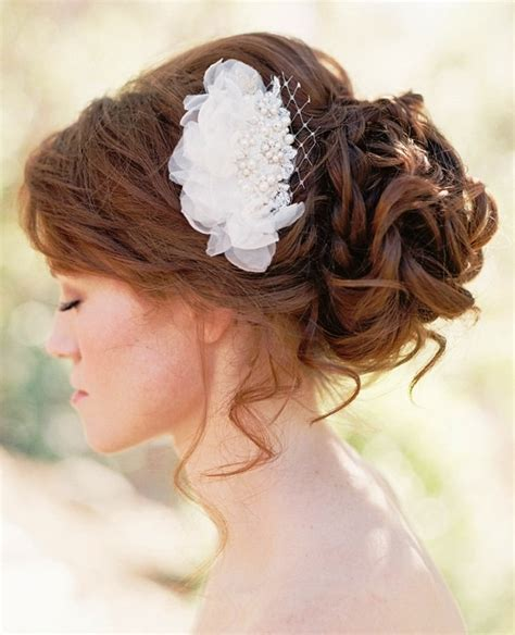 bride loose curly chignon bun bridal bridal toni