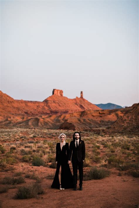 adventurous desert elopement in moab, utah   southwest