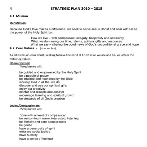church strategic plan template church strategic plan template 10 free links