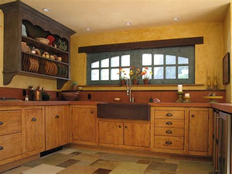 Wooden Cabinets Kitchen Yellow Wood Kitchen Cabinets With Country Style Home Design