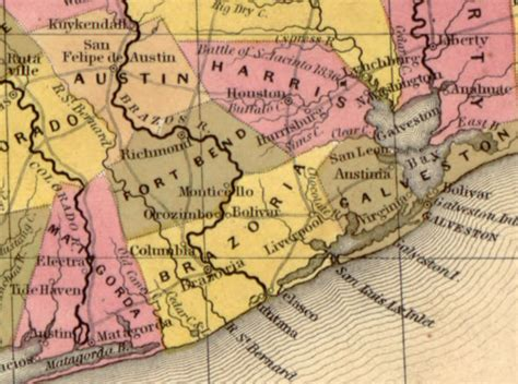 map of texas 1845 texas state 1845 mitchell historic map reprint