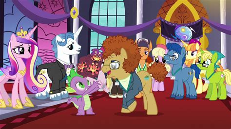 my little pony friendship is magic heartwarming tv tropes image spike presented with a bouquet of flowers s5e10