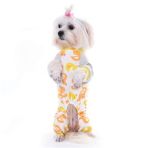 pattern for dog jumpsuit taonmeisu cute duck pattern dog clothes cotton pajamas