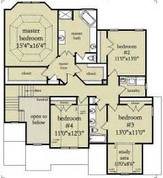 floor plans for 2 story homes two story four bedroom house plan with garage 2 story