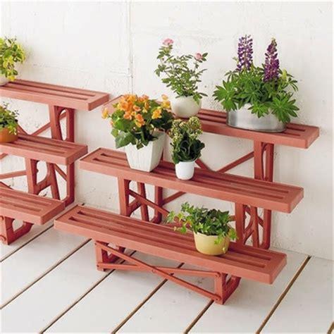 model rak pot bunga  tanaman hias unik  bahan kayu
