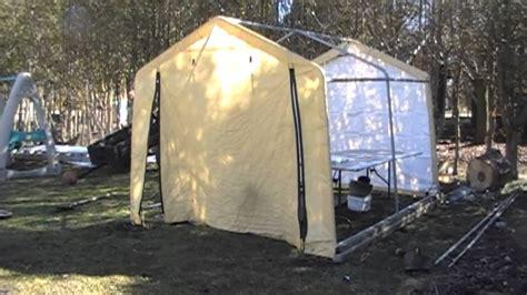 shelterlogic shed turned   greenhouse youtube